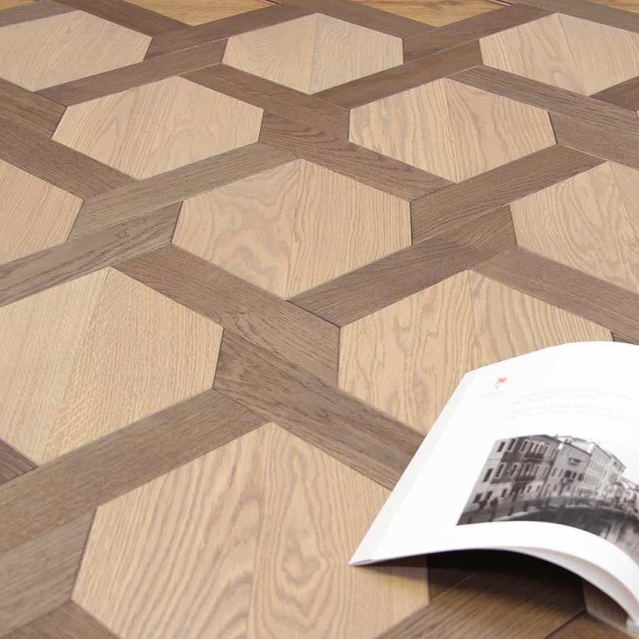 Esagano Italian Wide Plank Wood Flooring Pattern | Tavolato Veneto