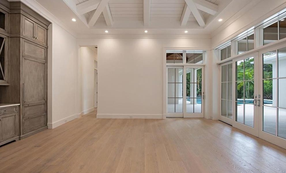 New Build with White Oak Italian Wide Plank Wood Flooring | Tavolato Veneto