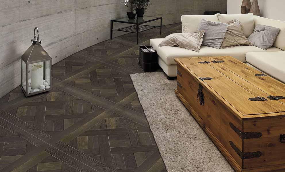 Italian Wide Plank Wood Flooring Pattern in Living Room | Wood Flooring System for Interior Designers Tavolato Veneto